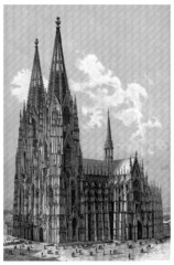Cathedral : Cologne - Domkirche : Köln - View 19th century