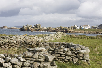 landscape of island in Brittany