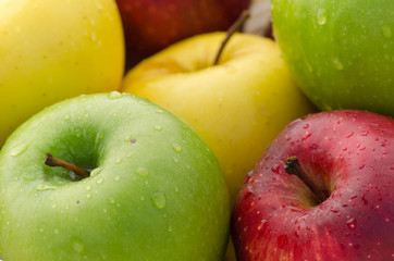 Closeup up of many apples