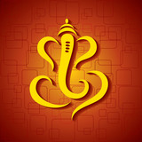 Abstract ganesha design - vector illustration