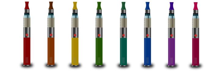 Cigarettes électroniques multicolores