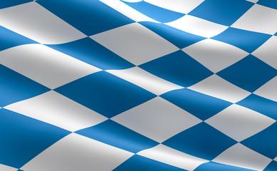 Flag of Bavaria state - Freistaat Bayern Flagge Fahne