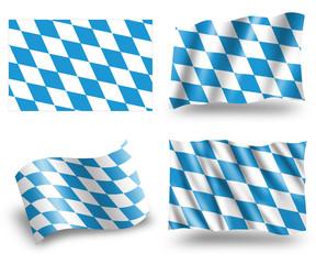 Bavaria flag -  Freistaat Bayern Flagge