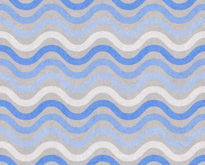 Blue and Gray Wavy  Textured Fabric Background