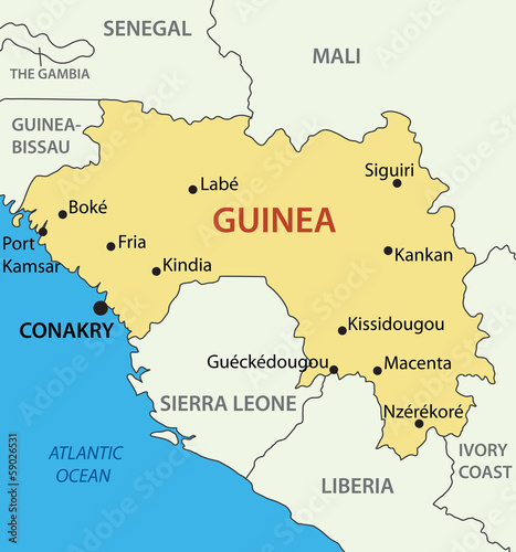 Republic of Guinea - vector map