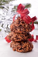 chocolate nut advent christmas cookies