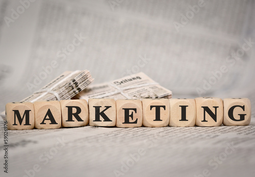 marketing- alte Zeitung