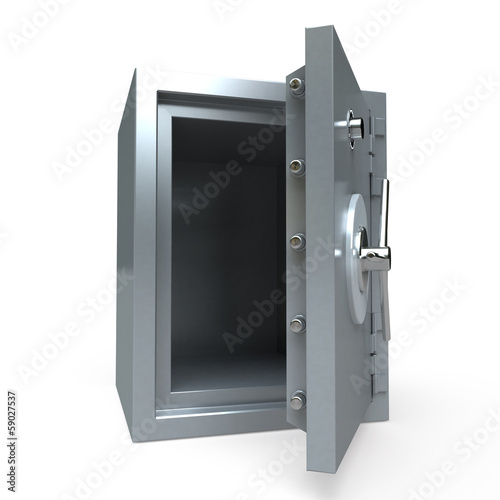 Open empty safe