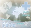 Health care banner card.