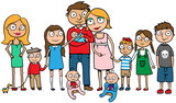 Large family with many children