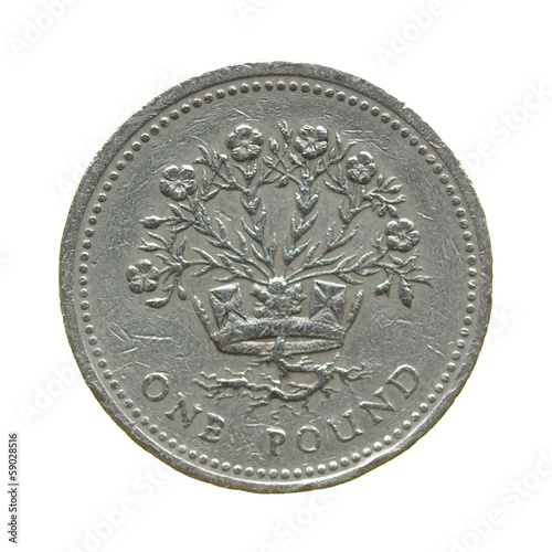 Coin isolated