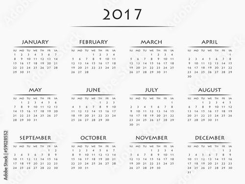 手工制作2017年年历