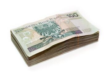 stack of polish banknotes - 100 PLN