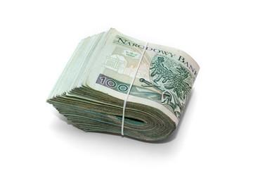 stack of polish banknotes