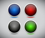 Plastic web buttons. Vector eps10.