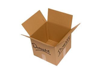 Overhead Shot Of Empty Donate Box