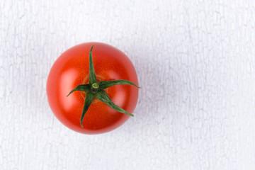 frische tomate von oben