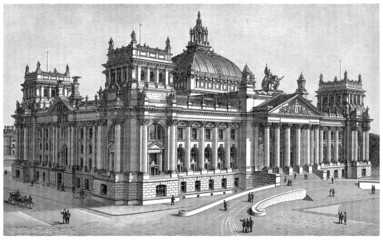 Reichstag - Parliament - Berlin (Germany) - 19th century