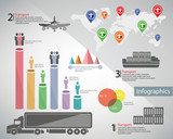 Transport and logistics,infograph ics design,vector