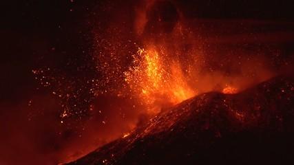 Volcano shockwave ( Etna 2\12\13)