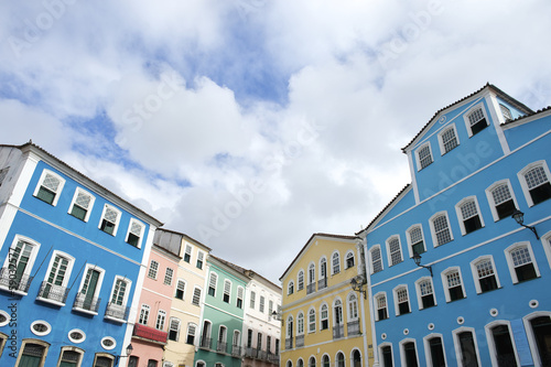 Colorful Colonial Architecture Pelourinho Salvador Brazil