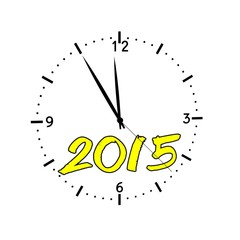 hours new year 2015 yellow