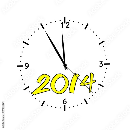 hours new year 2014 yellow