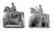 Ancient Rome : Emperors/Heroes - 2 Equestrian Statues