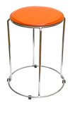 Orange kitchen stool