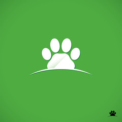 Animal footprint symbol
