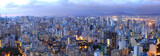 Fototapeta Aerial view of Sao Paulo in the night  time
