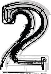 Grunge Font. Number 2