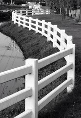 abstract white gate