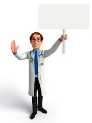 Doctor with sign
