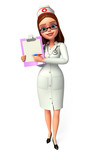 Lady Doctor with notepad