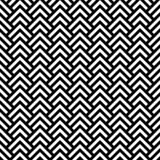 Fototapety Black and white chevron geometric seamless pattern, vector