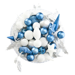 Bowl of Christmas Blues and Whites