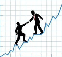 Business team help chart company growth