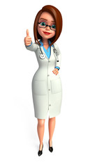 Lady Doctor with thumbs up