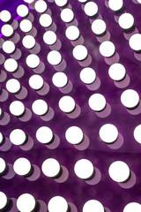 White Lights on Purple Background