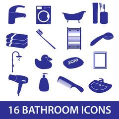 bathroom icons set eps10