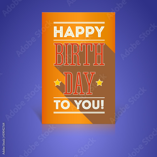 Vintage Birthday Card - Vector