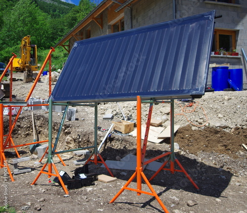 installation de panneaux solaires sur chassis