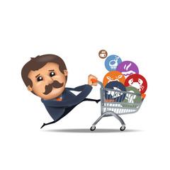 Shopping cart. Vector format