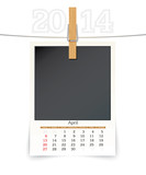 april 2014 photo frame calendar
