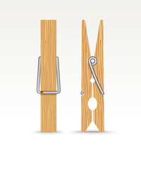 Wooden cloth clips