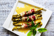 Asparagus - Grilled asparagus wrapped in prosciutto