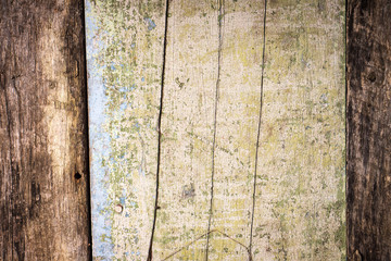 Weathered Textured wood background with old painting