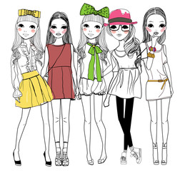 Five fashion girl