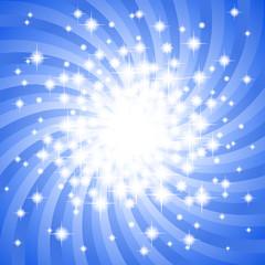 abstrakter blauer Sternen Hintergrund